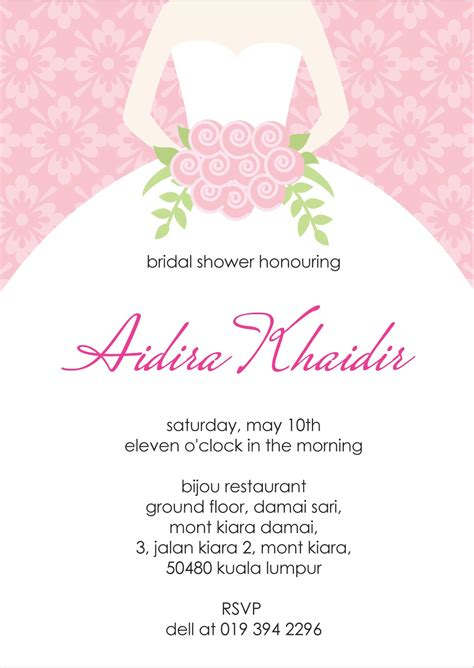 Bridal Shower Invitations Free - your one stop wedding centre gifts deco favors and