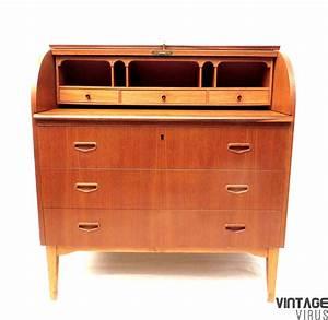 Bureau Secretaire Vintage : vintage zweeds design secretaire vintage virus ~ Teatrodelosmanantiales.com Idées de Décoration
