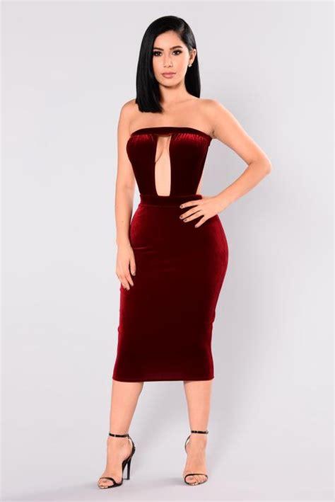 Steal: Nicole Murphy's Fashion Nova Donnelle Burgundy ...