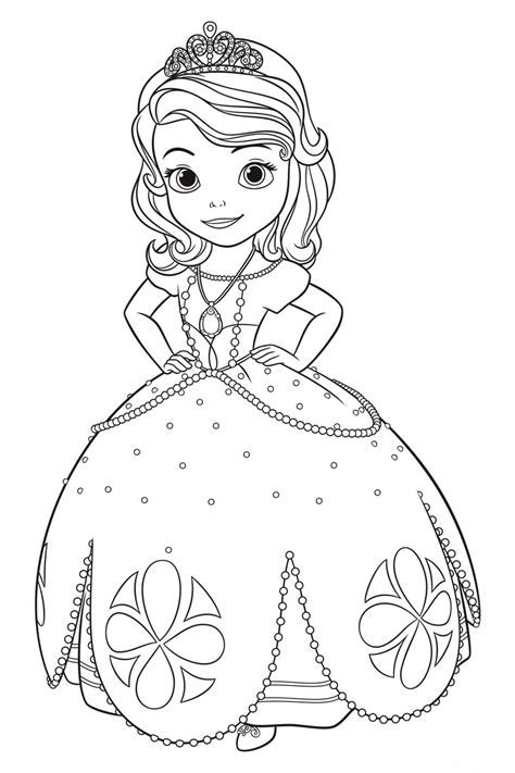 sofia   coloring pages  girls  print