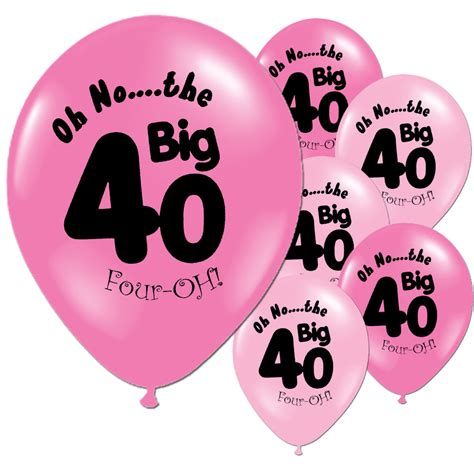 40th birthday decorations ebay 10 fushcia baby pink 40th birthday 11 quot pearlised