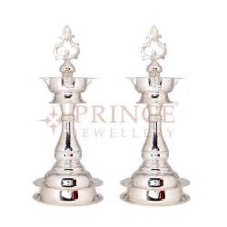gold ear studs silver two deepam set from prince jewellers