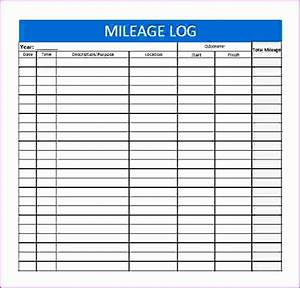 Mileage Log Forms 8 Excel Mileage Log Template Excel Templates Excel