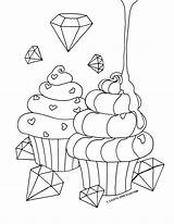 Coloring Castles Coated Cakes Candy sketch template