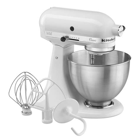 kitchen aid stand mixer accessories kitchenaid k45sswh 10 speed stand mixer w 4 5 qt 7642