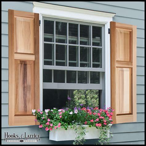 Cedar Shutters  Wood Raised Panel Shutters  Custom Sizes