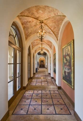 groin vaulted ceiling in corridor design spanish