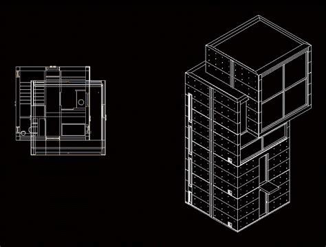 tadao ando  house dwg block  autocad designs cad