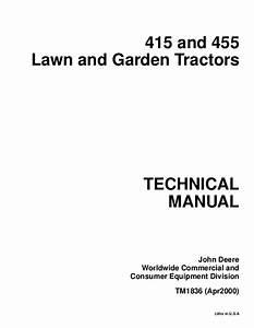John Deere 455 Lawn Garden Tractor Service Repair Manual