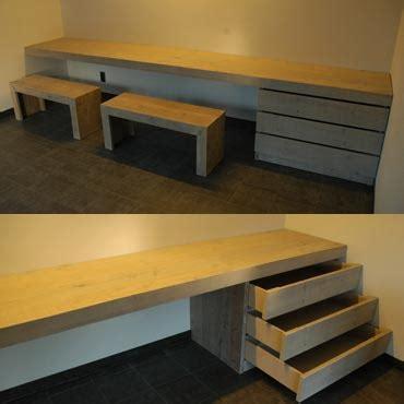 bureau en teck bureau op maat in gebruikt steigerhout indoor meubelen