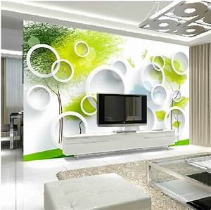 Mural Dream 3d three dimensional mural wallpaper circle tv ...