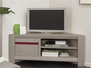 Meuble Angle Tv : meuble tv d 39 angle chne massif lagon2 fabrication franaise meuble salon en bois massif lotusa ~ Teatrodelosmanantiales.com Idées de Décoration