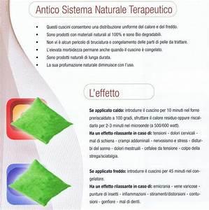 Cuscino termico cervicale con semi, cm 30x32 Cuscini Tessili Arredamento