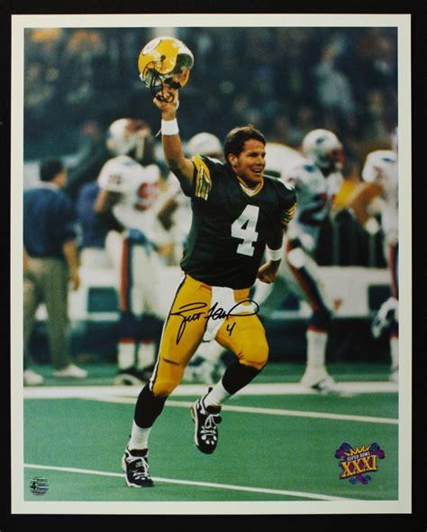 Brett Favre Signed Packers Super Bowl Xxxi Celebration