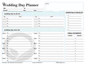 wedding reception schedule blank 5 day calendar
