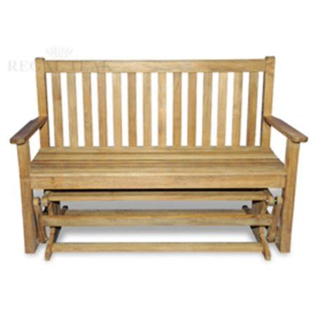 wooden settee bench 55 quot teak wooden settee outdoor patio glider bench