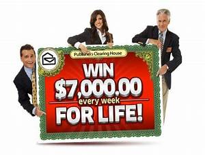 "Publishers Clearing House Sweepstakes ""Win $7000 A Week ..."