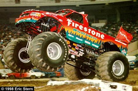 firestone bigfoot monster truck new for 1998 is the firestone wilderness bigfoot this