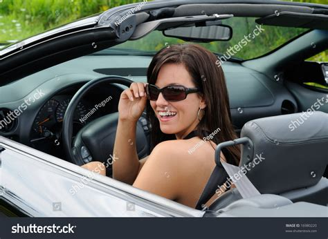 driving sports car beautiful driving sports stock photo