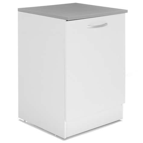 eko cuisine meuble de cuisine bas blanc 1 porte 60cm eko cuisine décoration intérieur alinéa