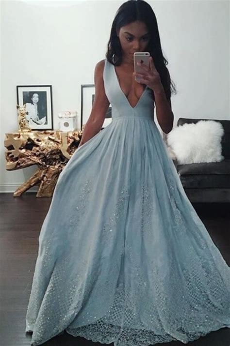 dresses 2018 new year cheongsam style thick warm new indian prom dress black girl prom light sky blue prom