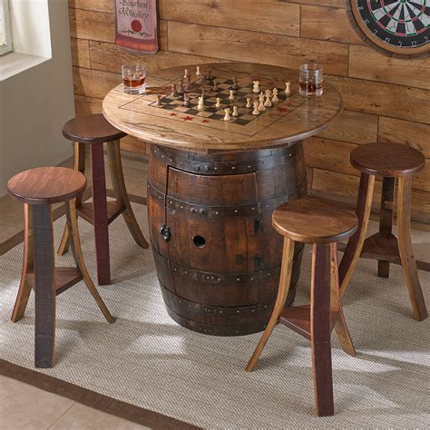 furniture wooden barrel coffee table  rustic living