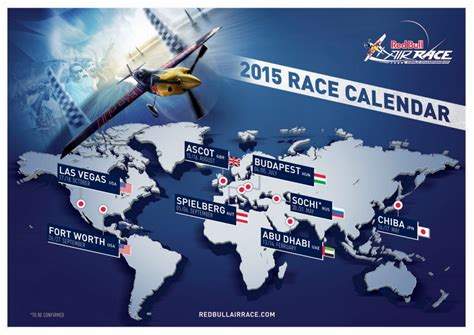 calendario de las pruebas de la red bull air race fly news