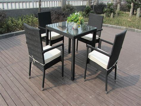 outdoor patio furniture chair set aluminum frame dining