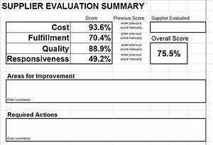 supplier evaluation scorecard download for microsoft excel With supplier report card template