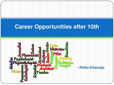 Career Opportunities After 10th Std (career After Class 10