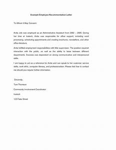 Word Document Template Download Example Employee Recommendation Letter Template Pdf