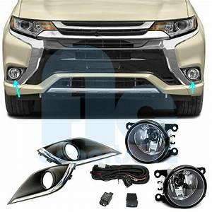 Fog Light Cover Harness Switch Wire Kits For Mitsubishi Outlander U0026phev 2016