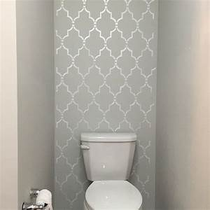 25 best ideas about bathroom accent wall on pinterest With what kind of paint to use on kitchen cabinets for diy stencil wall art