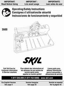 Skil 3600 Users Manual Flooring Saw