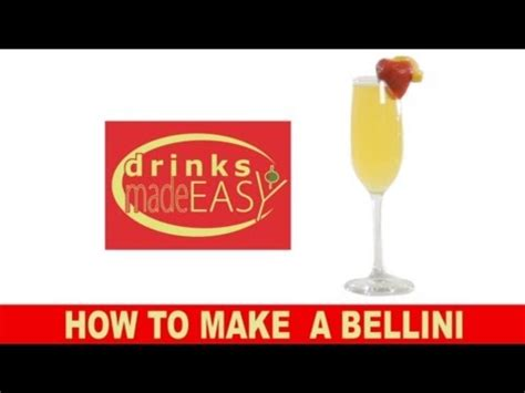 how to make a bellini how to make a bellini chagne cocktail drinks made easy youtube