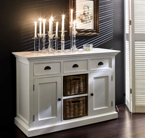 Buffet Console by Buffet Commode Bois Blanc Collection Leirfjord 2 Portes 2