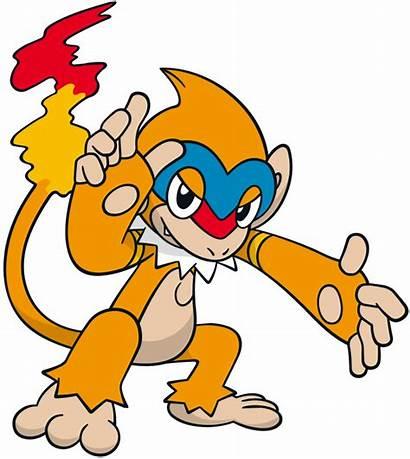 Monferno Pokemon Artwork Chimchar Dream Line Fire