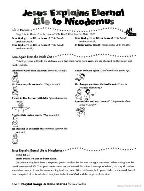story of nicodemus for preschoolers 32 best images about jesus met nicodemus 3 1 21 on 899