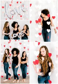 valentines day styled photoshoot  heart streamers