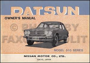 1969 Datsun 510 Owners Manual Original Oem Owner User