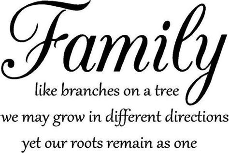 Family like branches on a tree Vinyl Decal Wall Art Lettering