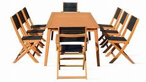 Table Et Chaise De Jardin En Bois : salon de jardin 8 places en bois table et chaise ~ Teatrodelosmanantiales.com Idées de Décoration