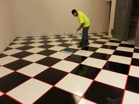 checkered garage floor tiles welcome cutting edge decorative concrete