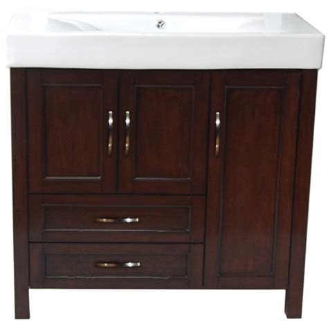 meuble lavabo larissa  portes   tiroirs noyer rona