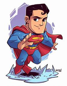 "Chibi Superman 8.5x11"" Print — Derek Laufman"