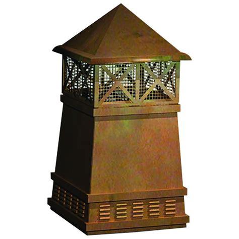 coppercraft knight copper chimney pot potcpkn  home