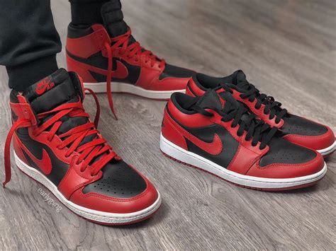 Air Jordan 1 Low 'varsity Red Official Images Sneakerfiles