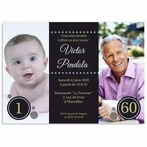 Faire Part Anniversaire 60 Ans : carte invitation anniversaire 60 ans carte invitation ~ Edinachiropracticcenter.com Idées de Décoration