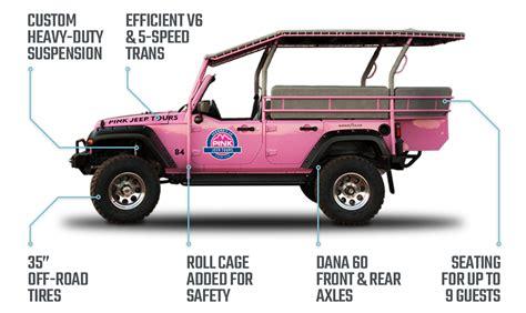 jeep wrangler custom pink tour vehicles custom built for off road pink adventure