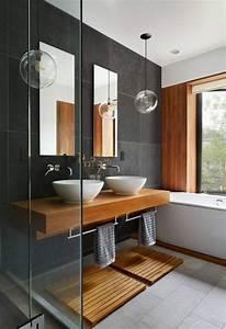 Abat Jour Salle De Bain : id e d coration salle de bain salle de bain grise meubles salle de bain zen ~ Melissatoandfro.com Idées de Décoration